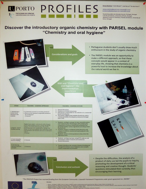 "Discover the introductory organic chemistry with PARSEL module ""Chemistry and oral hygiene"""